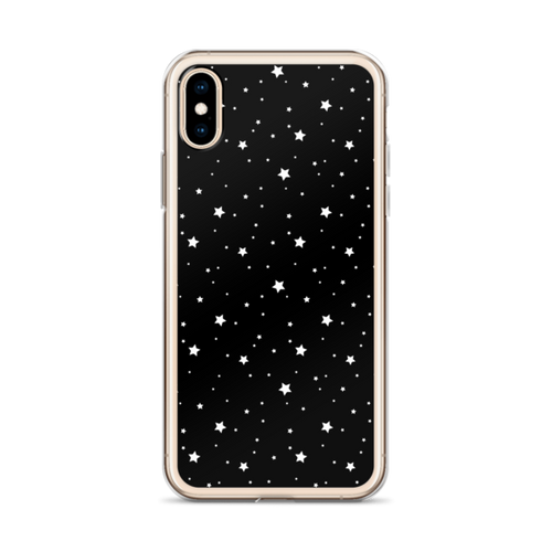 White Stars on Black iPhone Case