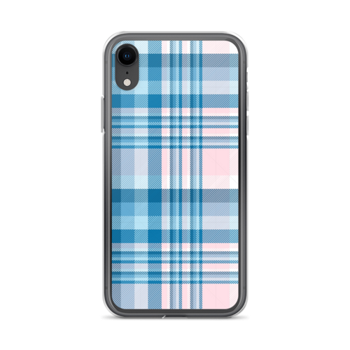Light Pink and Blue Plaid iPhone Case
