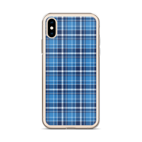 Pretty Blue Plaid iPhone Case
