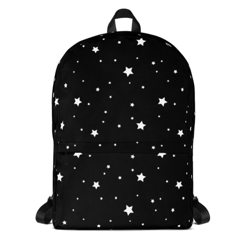 White Stars on Black Sky Backpack