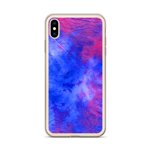 Blue and Hot Pink Tie Dye iPhone Case for all iPhone models including XR, XS Max, X, XS, 7Plus, 8Plus, 7, 8, 6Plus, 6s Plus, 6, 6s