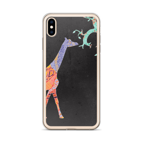 Colorful Giraffe iPhone Case for all iPhone models including XR, XS Max, X, XS, 7Plus, 8Plus, 7, 8, 6Plus, 6s Plus, 6, 6s