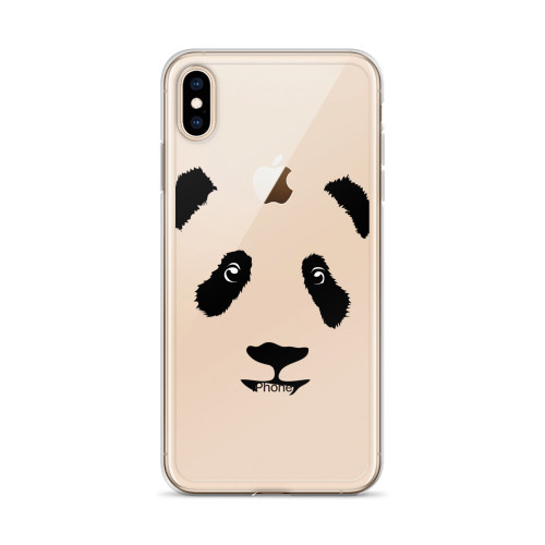 Panda Face iPhone Case for all iPhone models including XR, XS Max, X, XS, 7Plus, 8Plus, 7, 8, 6Plus, 6s Plus, 6, 6s