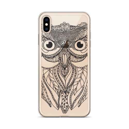 Owl Zentangle Art iPhone Case