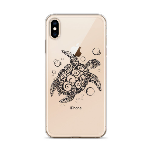 Zentangle Sea Turtle iPhone Case for all iPhone models including XR, XS Max, X, XS, 7Plus, 8Plus, 7, 8, 6Plus, 6s Plus, 6, 6s