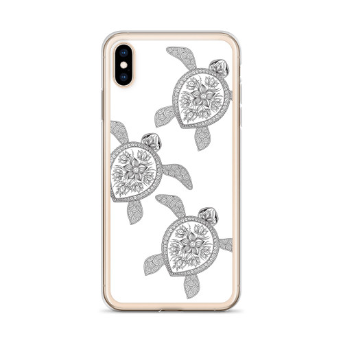 Black Henna Sea Turtles iPhone Case