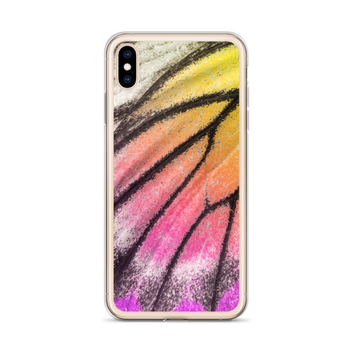 Colorful Butterfly Wing iPhone Case for all iPhone models including XR, XS Max, X, XS, 7Plus, 8Plus, 7, 8, 6Plus, 6s Plus, 6, 6s