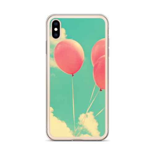 Red Balloons in the Clouds iPhone Case for all iPhone models including XR, XS Max, X, XS, 7Plus, 8Plus, 7, 8, 6Plus, 6s Plus, 6, 6s