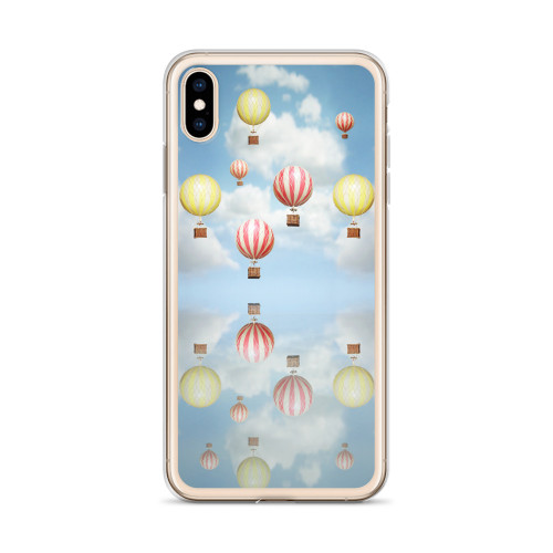 Old Fashioned Hot Air Balloons iPhone Case for all iPhone models including XR, XS Max, X, XS, 7Plus, 8Plus, 7, 8, 6Plus, 6s Plus, 6, 6s