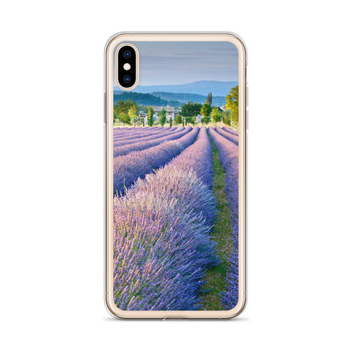Provence Lavender Fields iPhone Case for all iPhone models including XR, XS Max, X, XS, 7Plus, 8Plus, 7, 8, 6Plus, 6s Plus, 6, 6s