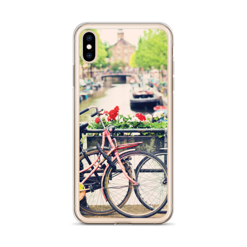 Bike along the River iPhone Case for all iPhone models including XR, XS Max, X, XS, 7Plus, 8Plus, 7, 8, 6Plus, 6s Plus, 6, 6s
