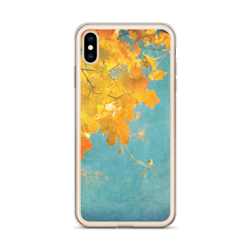 Pretty Fall Leaves iPhone Case for all iPhone models including XR, XS Max, X, XS, 7Plus, 8Plus, 7, 8, 6Plus, 6s Plus, 6, 6s