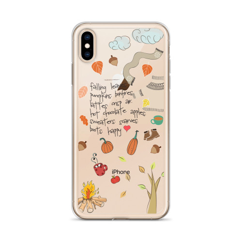 I Love Fall iPhone Case for all iPhone models including XR, XS Max, X, XS, 7Plus, 8Plus, 7, 8, 6Plus, 6s Plus, 6, 6s