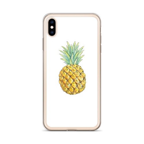 Cute Pineapple iPhone Case for all iPhone models including 11, 11 Pro, 11 Pro Max, XR, XS Max, X, XS, 7Plus, 8Plus, 7, 8, 6Plus, 6s Plus, 6, 6s
