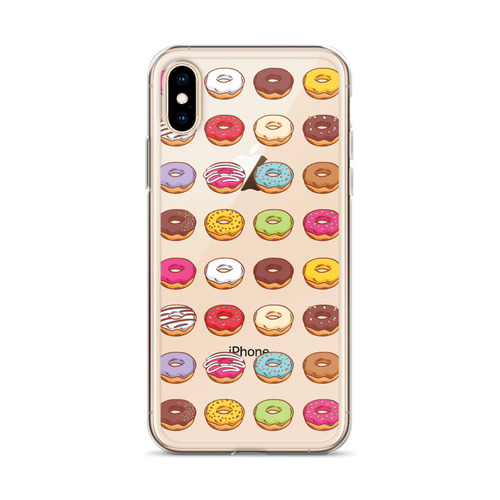 Colorful Donut Pattern iPhone Case for all iPhone models including 11, 11 Pro, 11 Pro Max, XR, XS Max, X, XS, 7Plus, 8Plus, 7, 8, 6Plus, 6s Plus, 6, 6s