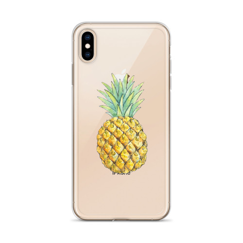 Cute Pineapple Transparent iPhone Case for all iPhone models including 11, 11 Pro, 11 Pro Max, XR, XS Max, X, XS, 7Plus, 8Plus, 7, 8, 6Plus, 6s Plus, 6, 6s