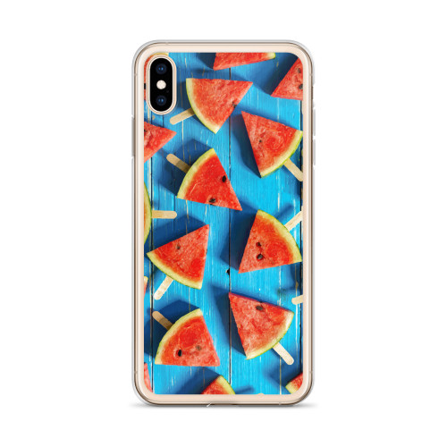 Watermelon Popsicle Pattern iPhone Case for all iPhone models including 11, 11 Pro, 11 Pro Max, XR, XS Max, X, XS, 7Plus, 8Plus, 7, 8, 6Plus, 6s Plus, 6, 6s