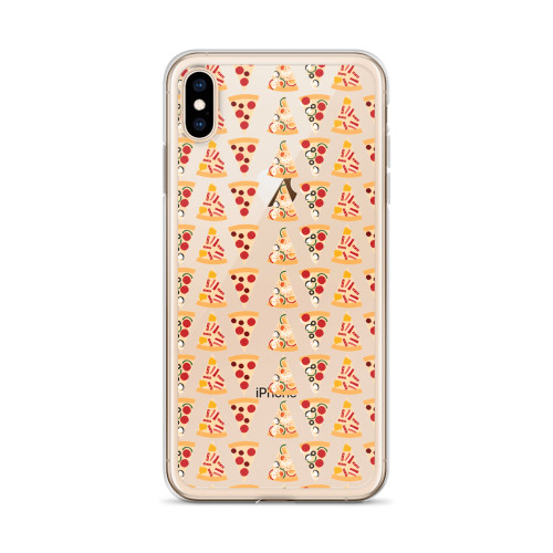 Pizza Pattern iPhone Case for all iPhone models including 11, 11 Pro, 11 Pro Max, XR, XS Max, X, XS, 7Plus, 8Plus, 7, 8, 6Plus, 6s Plus, 6, 6s