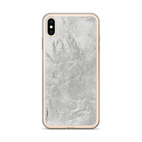 Unique Silver Textured iPhone Case for all iPhone models including 11, 11 Pro, 11 Pro Max, XR, XS Max, X, XS, 7Plus, 8Plus, 7, 8, 6Plus, 6s Plus, 6, 6s