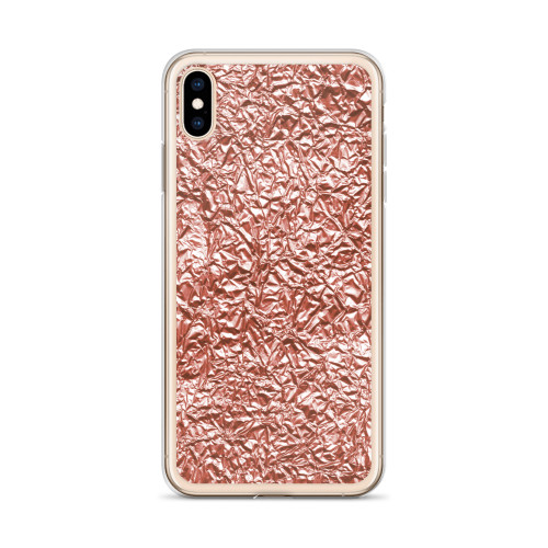 Rose Gold Crinkly Textured iPhone Case for all iPhone models including 11, 11 Pro, 11 Pro Max, XR, XS Max, X, XS, 7Plus, 8Plus, 7, 8, 6Plus, 6s Plus, 6, 6s