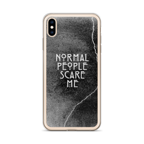 AHS Normal People Scare Me iPhone Case for all iPhone models including 11, 11 Pro, 11 Pro Max, XR, XS Max, X, XS, 7Plus, 8Plus, 7, 8, 6Plus, 6s Plus, 6, 6s