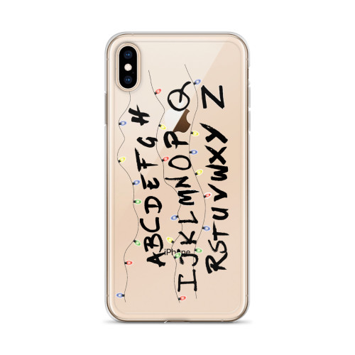 Alphabet Wall Stranger Things iPhone Case for all iPhone models including 11, 11 Pro, 11 Pro Max, XR, XS Max, X, XS, 7Plus, 8Plus, 7, 8, 6Plus, 6s Plus, 6, 6s