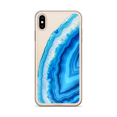 Blue Agate iPhone Case for all iPhone models including 11, 11 Pro, 11 Pro Max, XR, XS Max, X, XS, 7Plus, 8Plus, 7, 8, 6Plus, 6s Plus, 6, 6s