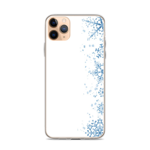 Pretty Blue Snowflake Pattern iPhone Case