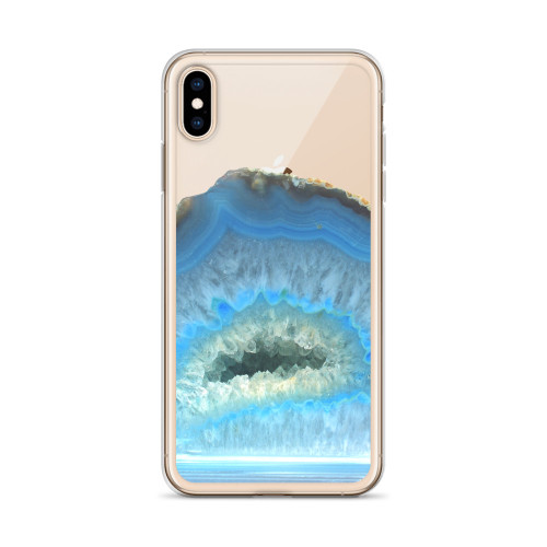 Baby Blue Agate iPhone Case for all iPhone models including 11, 11 Pro, 11 Pro Max, XR, XS Max, X, XS, 7Plus, 8Plus, 7, 8, 6Plus, 6s Plus, 6, 6s