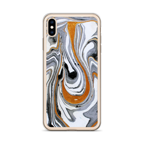 Brown and Grey Liquid Swirl iPhone Case for all iPhone models including 11, 11 Pro, 11 Pro Max, XR, XS Max, X, XS, 7Plus, 8Plus, 7, 8, 6Plus, 6s Plus, 6, 6s