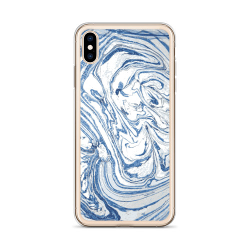 Blue and White Liquid Swirl iPhone Case for all iPhone models including 11, 11 Pro, 11 Pro Max, XR, XS Max, X, XS, 7Plus, 8Plus, 7, 8, 6Plus, 6s Plus, 6, 6s