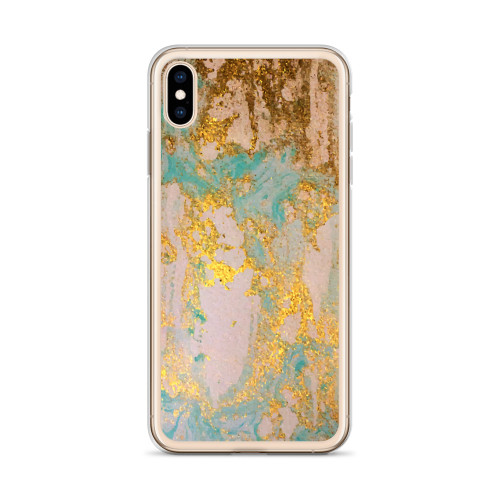 Rusty Blue and Gold Pattern iPhone Case for all iPhone models including 11, 11 Pro, 11 Pro Max, XR, XS Max, X, XS, 7Plus, 8Plus, 7, 8, 6Plus, 6s Plus, 6, 6s