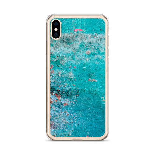 Rust Texture on Blue Paint iPhone Case for all iPhone models including 11, 11 Pro, 11 Pro Max, XR, XS Max, X, XS, 7Plus, 8Plus, 7, 8, 6Plus, 6s Plus, 6, 6s