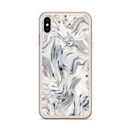 Black and Grey Wavy Pattern iPhone Case for all iPhone models including 11, 11 Pro, 11 Pro Max, XR, XS Max, X, XS, 7Plus, 8Plus, 7, 8, 6Plus, 6s Plus, 6, 6s