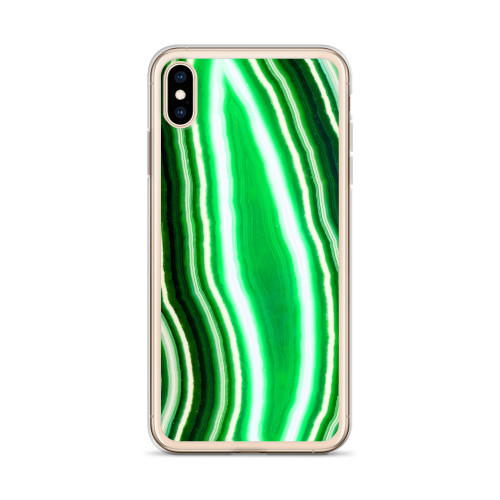 Pretty Green Agate iPhone Case for all iPhone models including 11, 11 Pro, 11 Pro Max, XR, XS Max, X, XS, 7Plus, 8Plus, 7, 8, 6Plus, 6s Plus, 6, 6s