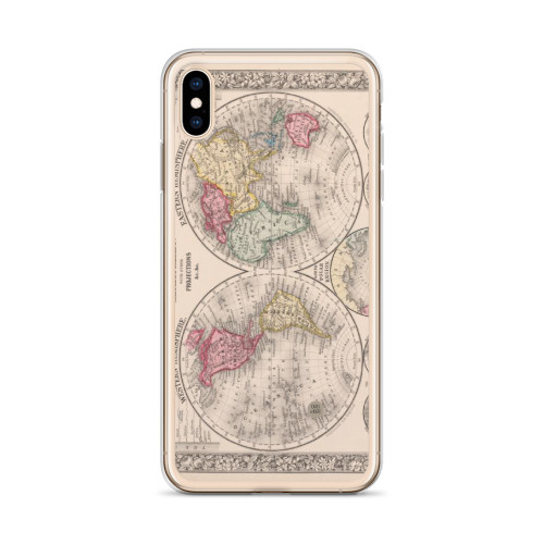 Old World Vintage Map iPhone Case for all iPhone models including 11, 11 Pro, 11 Pro Max, XR, XS Max, X, XS, 7Plus, 8Plus, 7, 8, 6Plus, 6s Plus, 6, 6s