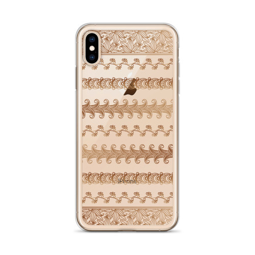 Pretty Henna Pattern iPhone Case for all iPhone models including 11, 11 Pro, 11 Pro Max, XR, XS Max, X, XS, 7Plus, 8Plus, 7, 8, 6Plus, 6s Plus, 6, 6s