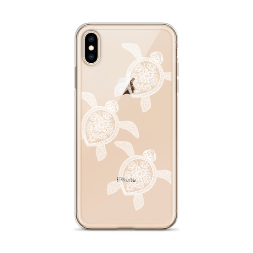 Henna White Turtles iPhone Case for all iPhone models including 11, 11 Pro, 11 Pro Max, XR, XS Max, X, XS, 7Plus, 8Plus, 7, 8, 6Plus, 6s Plus, 6, 6s