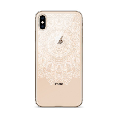 White Henna Top Half iPhone Case for all iPhone models including 11, 11 Pro, 11 Pro Max, XR, XS Max, X, XS, 7Plus, 8Plus, 7, 8, 6Plus, 6s Plus, 6, 6s