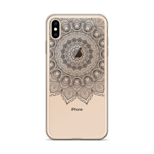 Henna Top Half in Black iPhone Case for all iPhone models including 11, 11 Pro, 11 Pro Max, XR, XS Max, X, XS, 7Plus, 8Plus, 7, 8, 6Plus, 6s Plus, 6, 6s