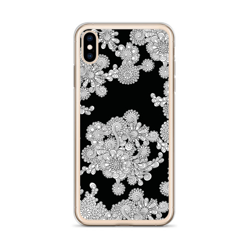 Ornate White Henna iPhone Case for all iPhone models including 11, 11 Pro, 11 Pro Max, XR, XS Max, X, XS, 7Plus, 8Plus, 7, 8, 6Plus, 6s Plus, 6, 6s