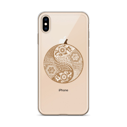 Yin Yang Henna iPhone Case for all iPhone models including 11, 11 Pro, 11 Pro Max, XR, XS Max, X, XS, 7Plus, 8Plus, 7, 8, 6Plus, 6s Plus, 6, 6s