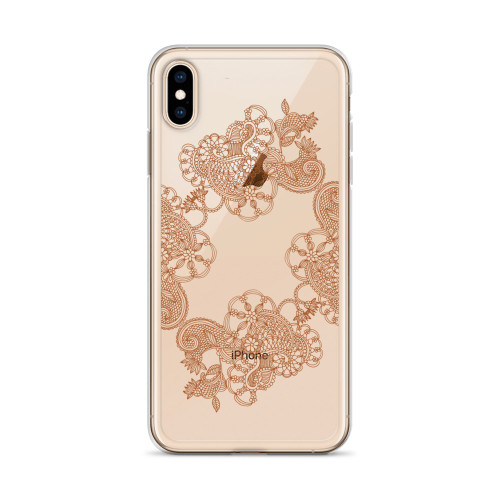 Decorative Henna Design iPhone Case for all iPhone models including 11, 11 Pro, 11 Pro Max, XR, XS Max, X, XS, 7Plus, 8Plus, 7, 8, 6Plus, 6s Plus, 6, 6s