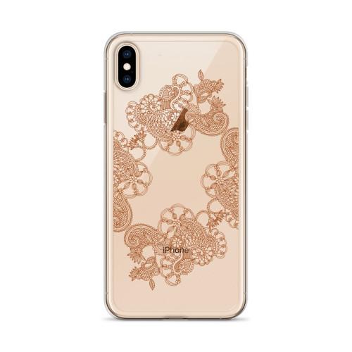 Decorative Henna Design iPhone Case for all iPhone models including 11, 11 Pro, 11 Pro Max, XR, XS Max, X, XS, 7Plus, 8Plus, 7, 8, 6Plus, 6s Plus, 6, 6s