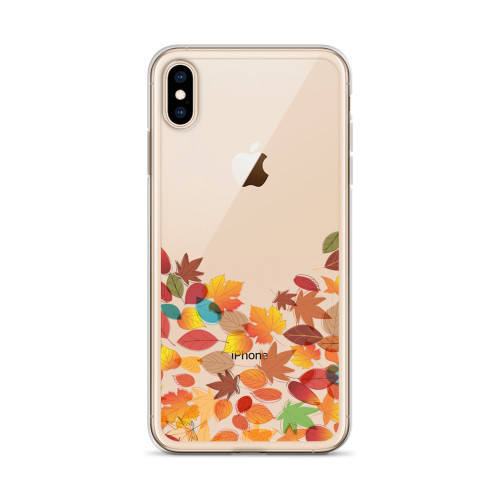 Cute Falling Leaves Transparent iPhone Case for all iPhone models including 11, 11 Pro, 11 Pro Max, XR, XS Max, X, XS, 7Plus, 8Plus, 7, 8, 6Plus, 6s Plus, 6, 6s