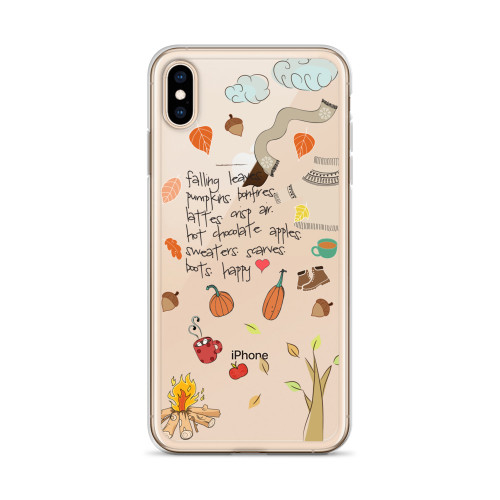 Cute Fall Graphics iPhone Case for all iPhone models including 11, 11 Pro, 11 Pro Max, XR, XS Max, X, XS, 7Plus, 8Plus, 7, 8, 6Plus, 6s Plus, 6, 6s