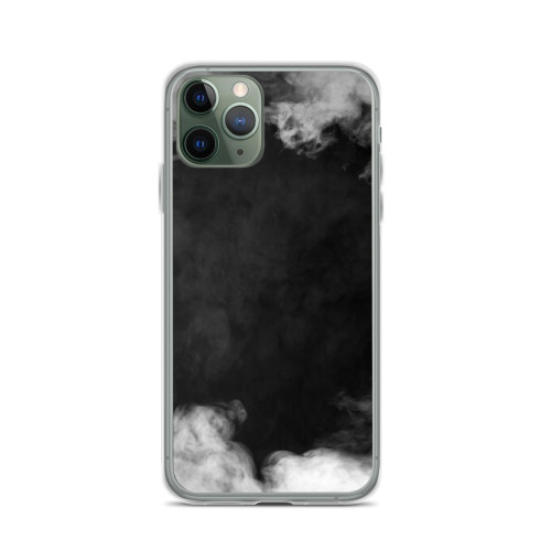 White Smoke on Black iPhone Case for all iPhone models including 11, 11 Pro, 11 Pro Max, XR, XS Max, X, XS, 7Plus, 8Plus, 7, 8, 6Plus, 6s Plus, 6, 6s