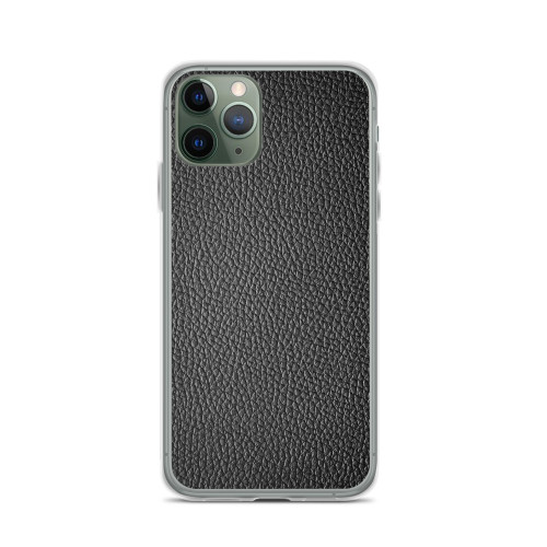 Simple Black Leather iPhone Case for all iPhone models including 11, 11 Pro, 11 Pro Max, XR, XS Max, X, XS, 7Plus, 8Plus, 7, 8, 6Plus, 6s Plus, 6, 6s