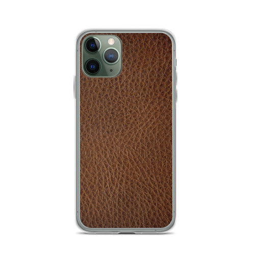 Simple Brown Leather iPhone Case for all iPhone models including 11, 11 Pro, 11 Pro Max, XR, XS Max, X, XS, 7Plus, 8Plus, 7, 8, 6Plus, 6s Plus, 6, 6s