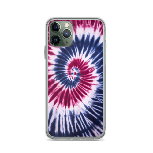 Blue and Red Tie Dye iPhone Case for all iPhone models including 11, 11 Pro, 11 Pro Max, XR, XS Max, X, XS, 7Plus, 8Plus, 7, 8, 6Plus, 6s Plus, 6, 6s